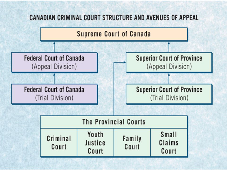 Figure 7.2 The Canadian Criminal Court Structure and Avenues of Appeal, p. 163