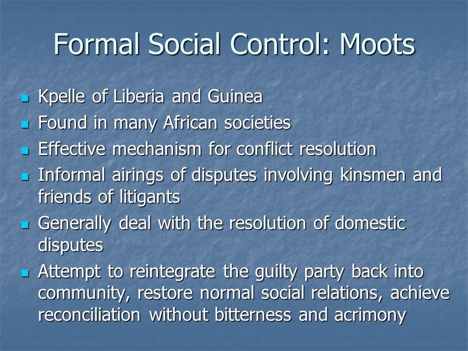 Formal Social Control: Moots