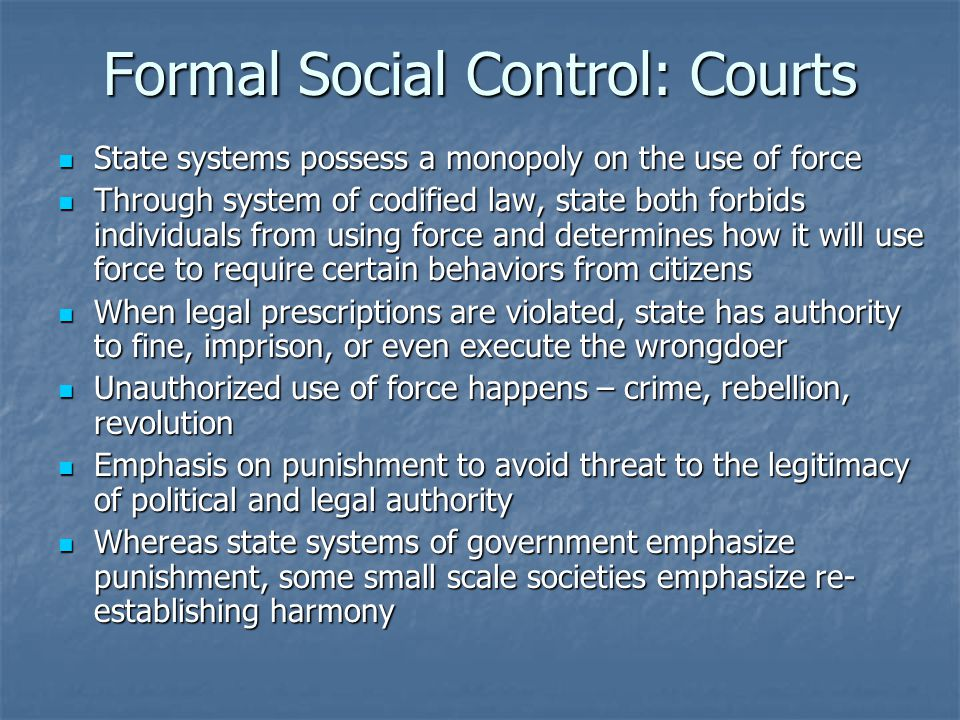 Formal Social Control: Courts