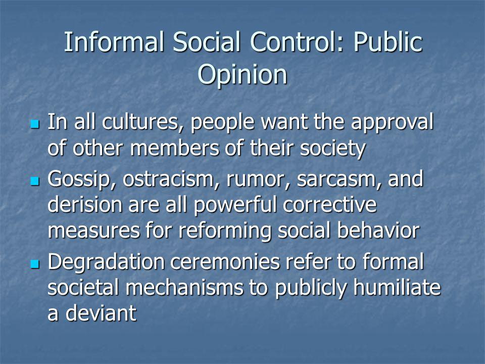 Informal Social Control: Public Opinion