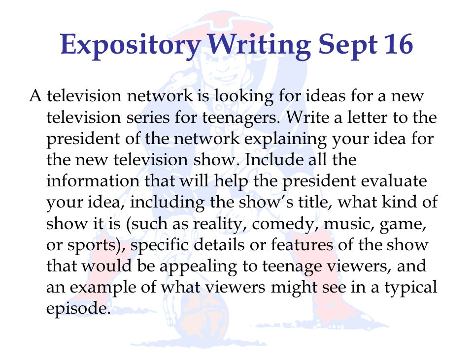 Expository Writing Sept 16