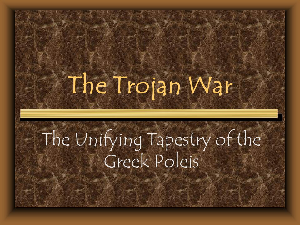 The Unifying Tapestry of the Greek Poleis