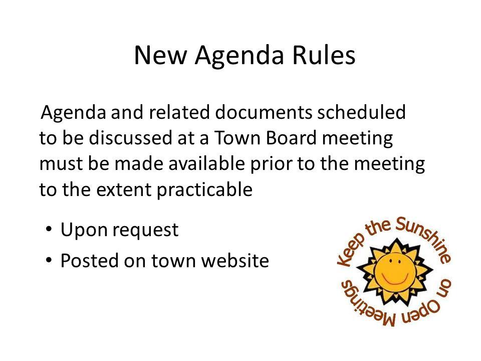 New Agenda Rules
