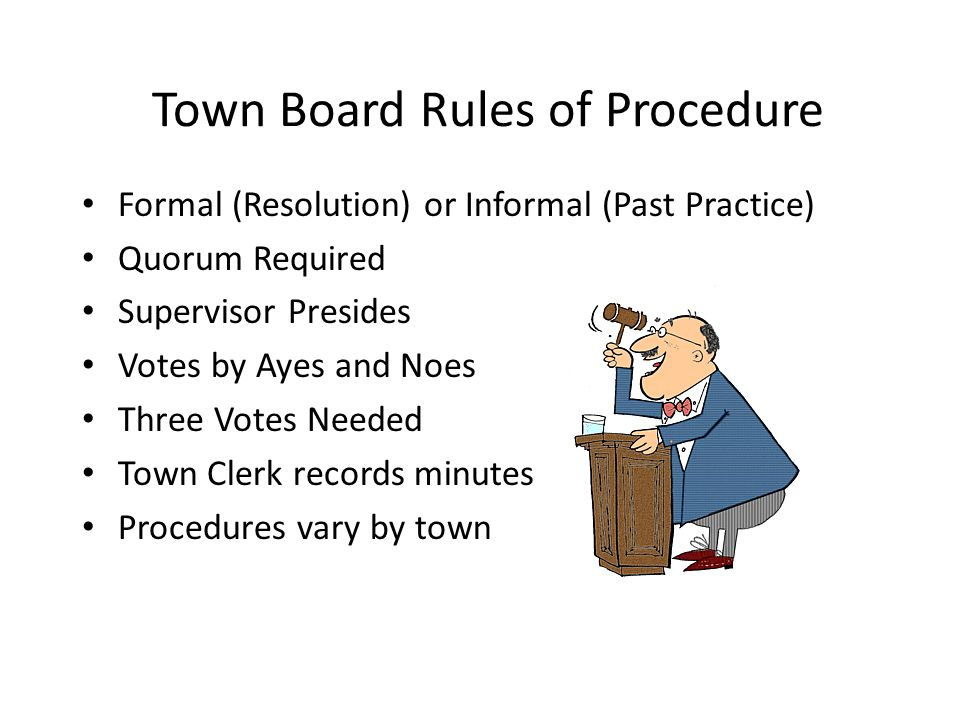 Town Board Rules of Procedure