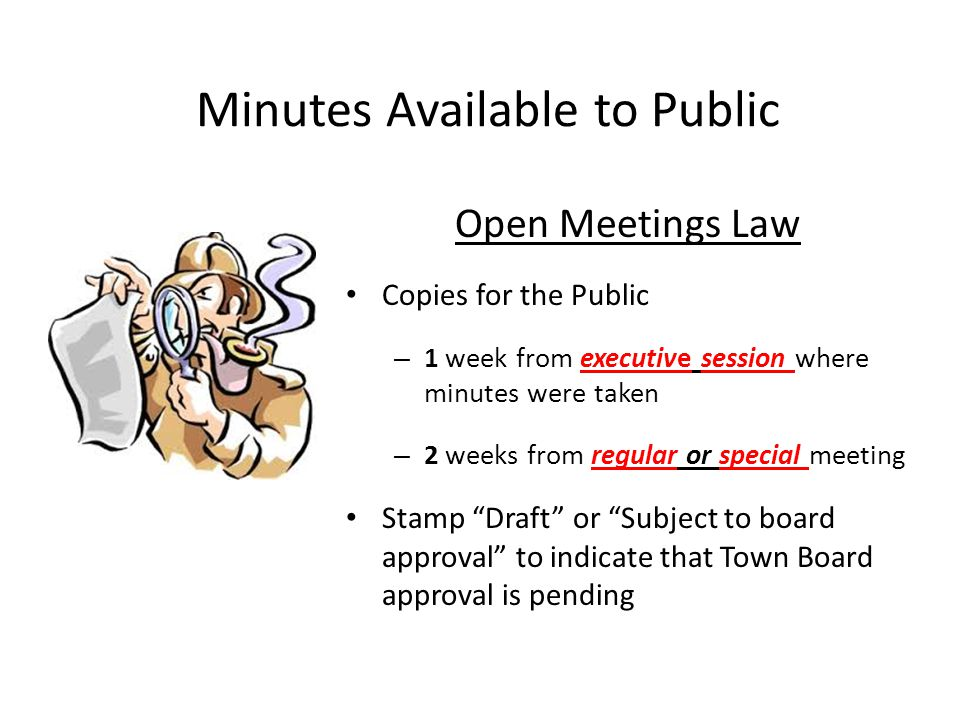 Minutes Available to Public