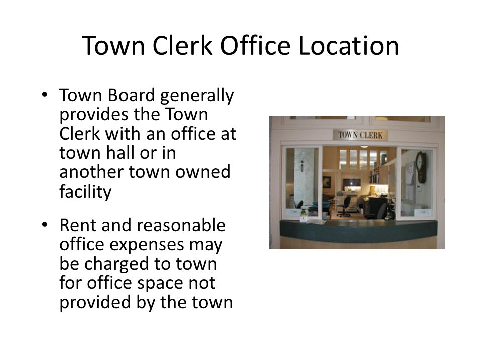 Town Clerk Office Location
