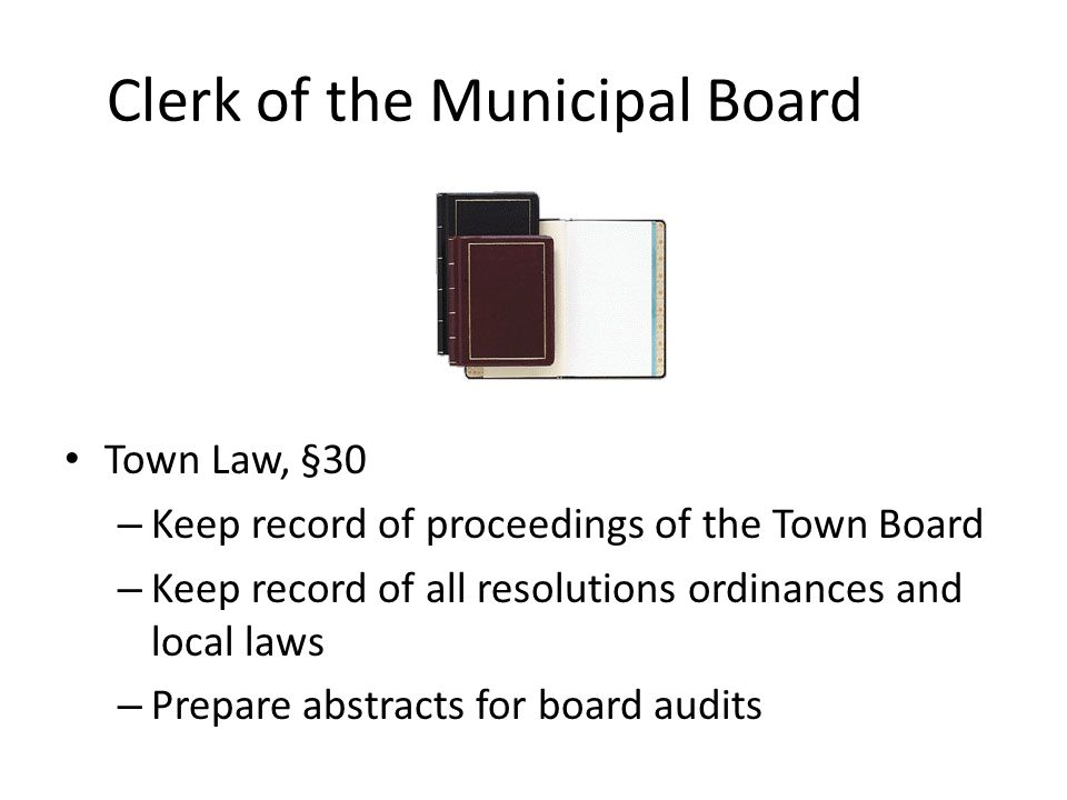 Clerk of the Municipal Board