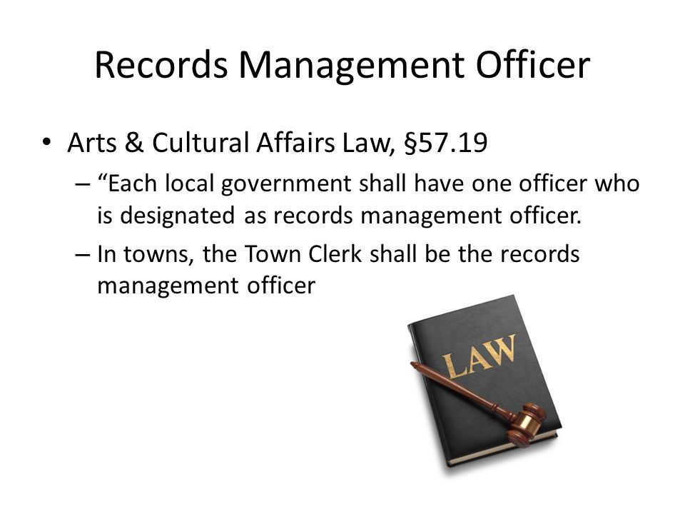 Records Management Officer