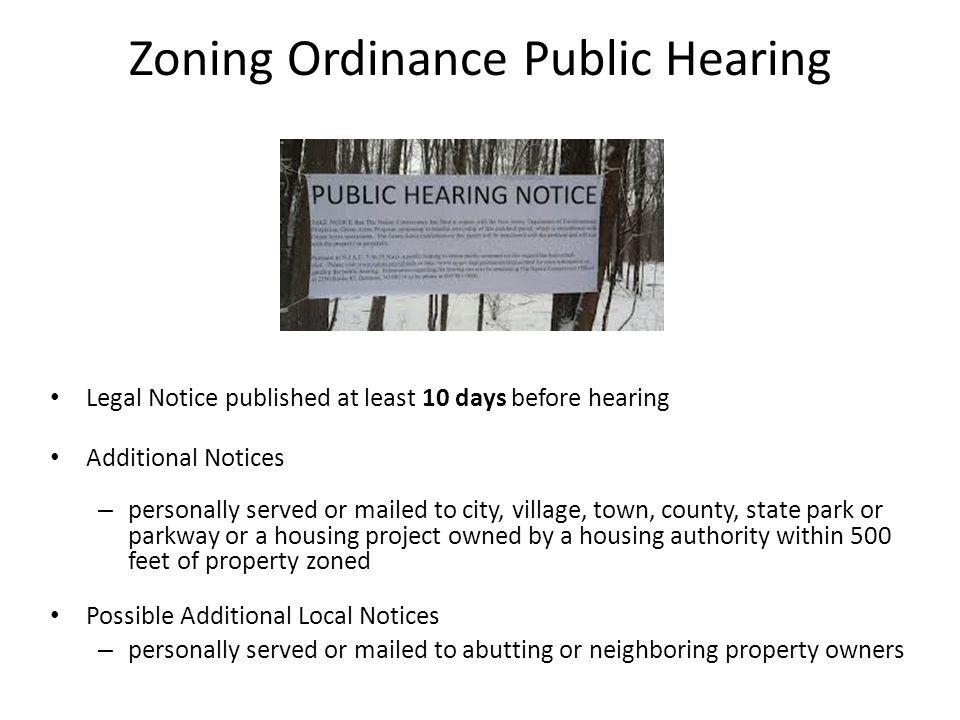 Zoning Ordinance Public Hearing