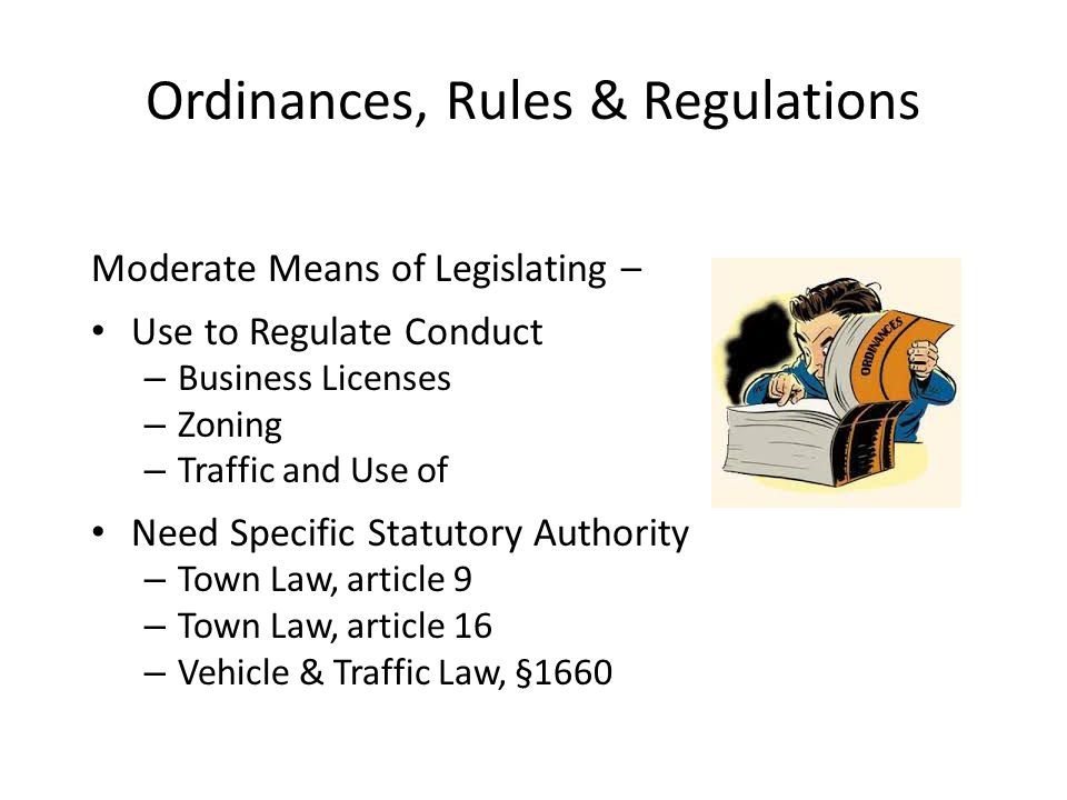 Ordinances, Rules & Regulations