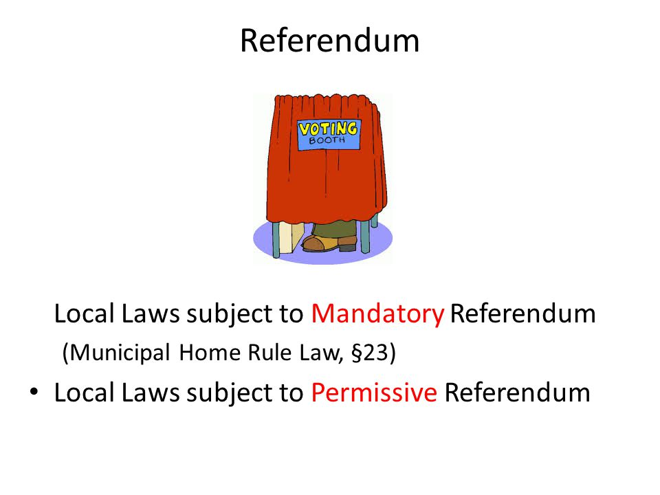Referendum Local Laws subject to Mandatory Referendum