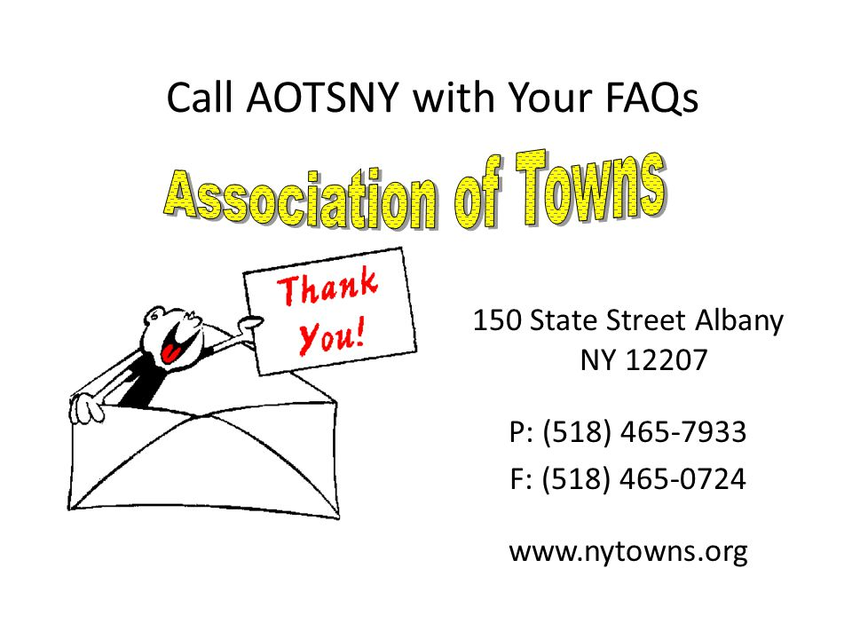 Call AOTSNY with Your FAQs