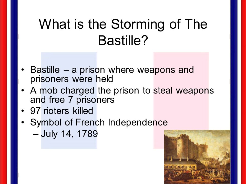 What is the Storming of The Bastille