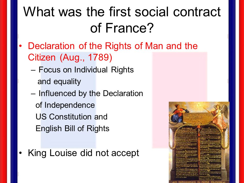 What was the first social contract of France