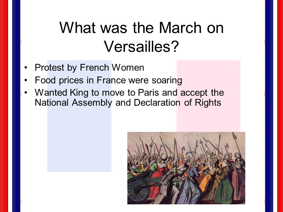 What was the March on Versailles