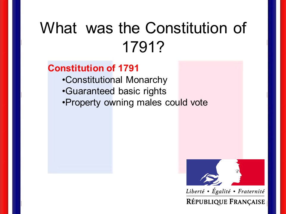What was the Constitution of 1791