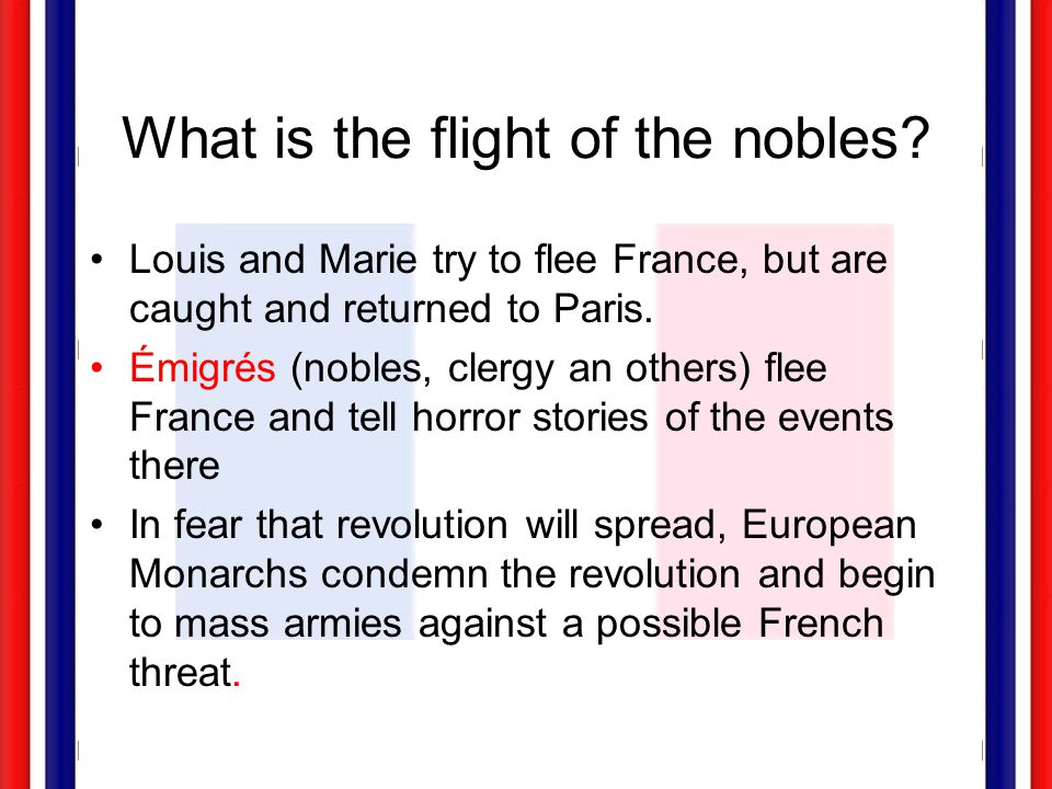 What is the flight of the nobles