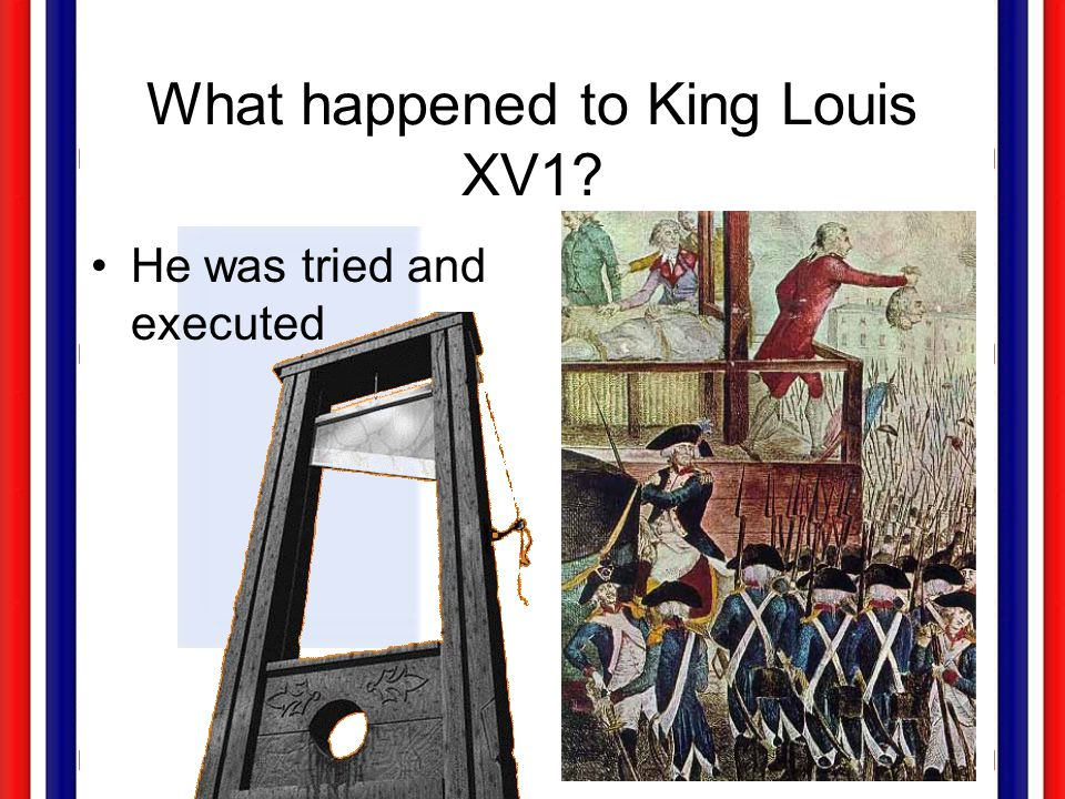 What happened to King Louis XV1