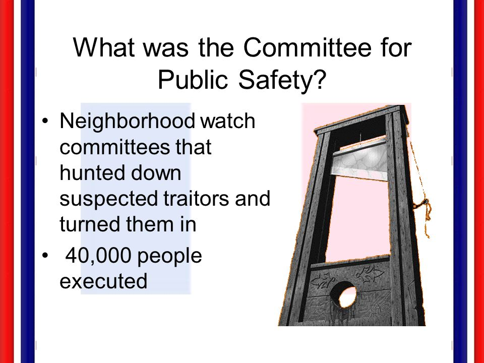 What was the Committee for Public Safety