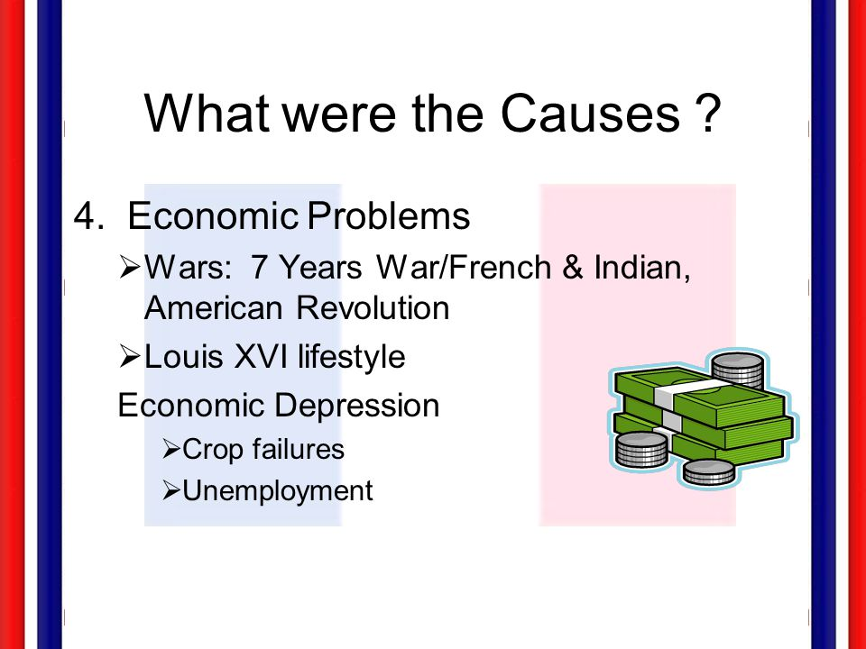 What were the Causes 4. Economic Problems