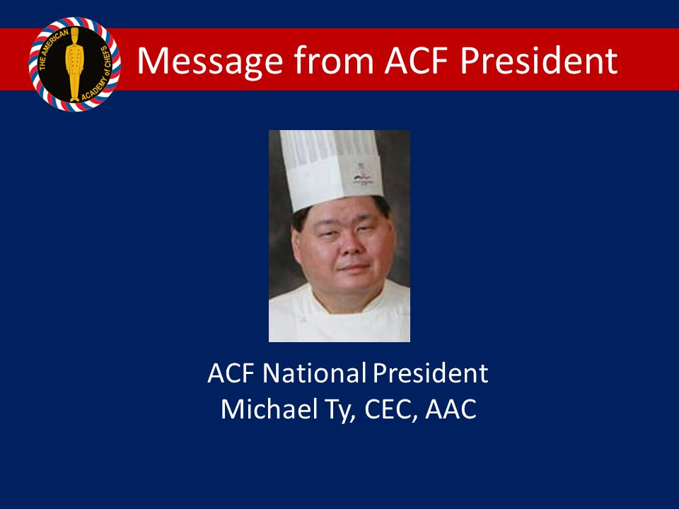Message from ACF President