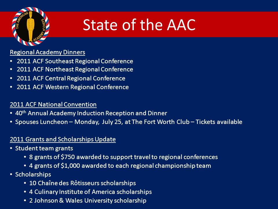 State of the AAC Regional Academy Dinners