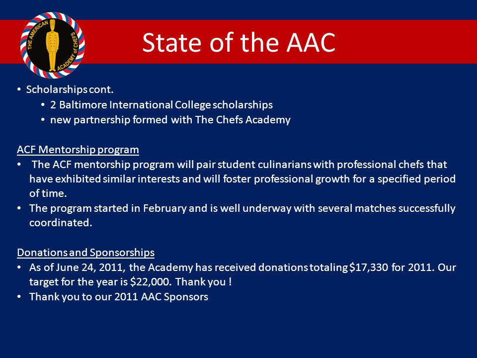 State of the AAC Scholarships cont.
