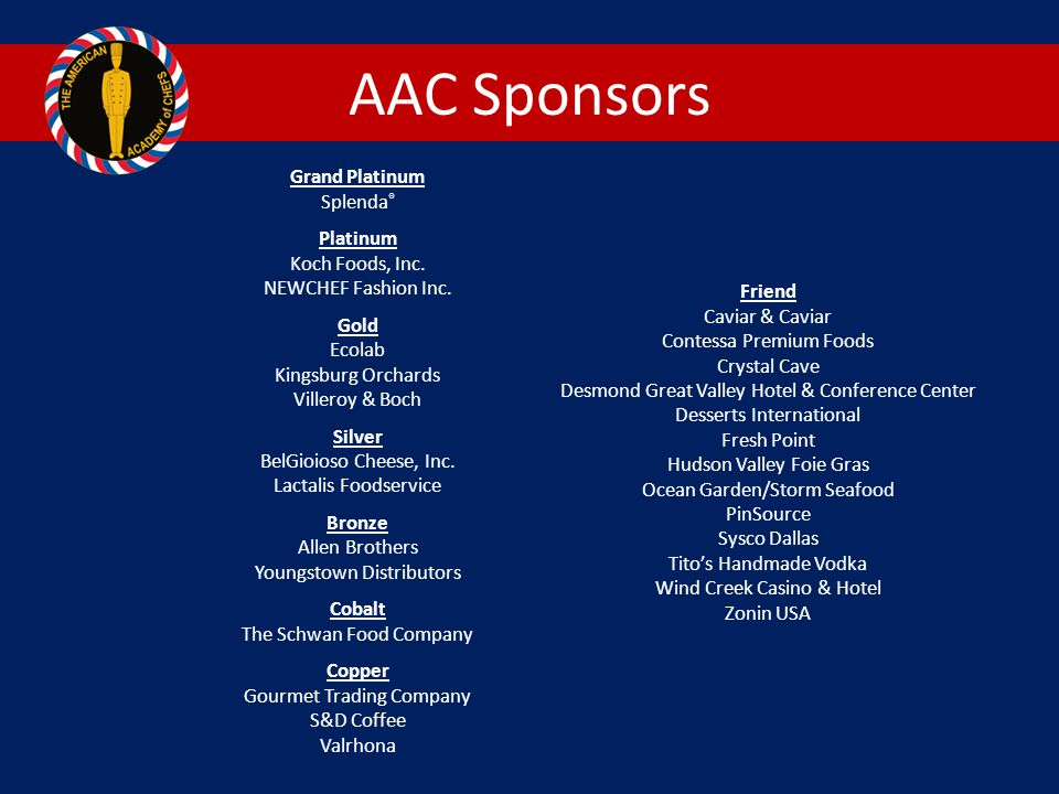 AAC Sponsors Grand Platinum Splenda®
