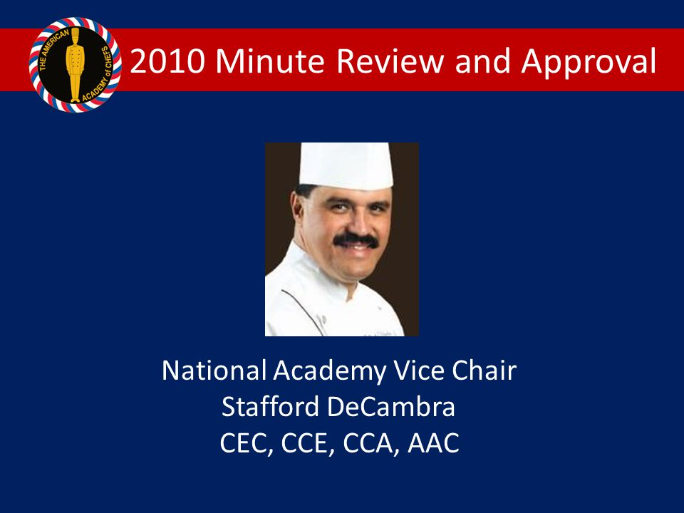 2010 Minute Review and Approval