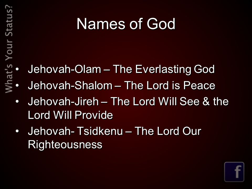 Names of God Jehovah-Olam – The Everlasting God