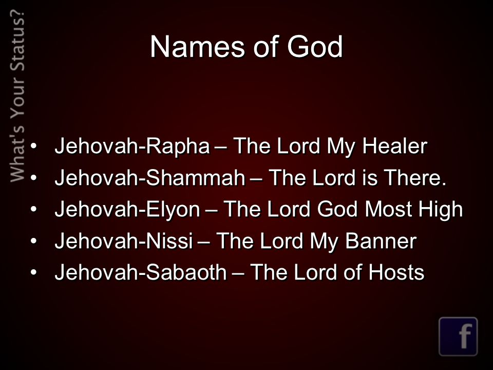 Names of God Jehovah-Rapha – The Lord My Healer