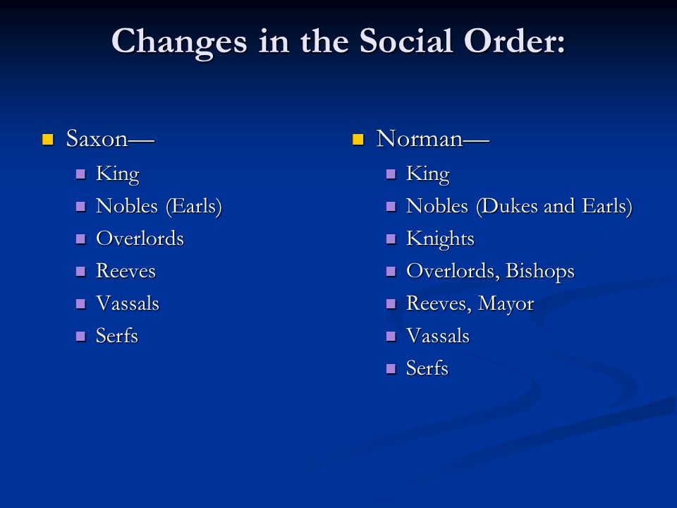 Changes in the Social Order: