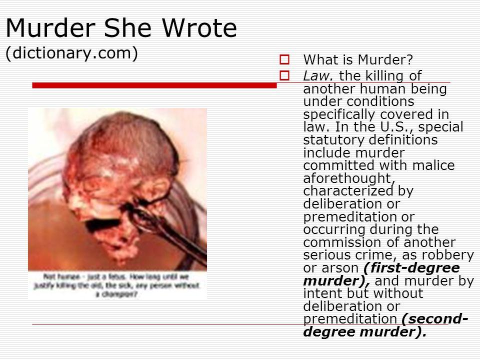 Murder She Wrote (dictionary.com)