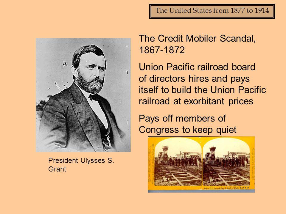 The Credit Mobiler Scandal, 1867-1872