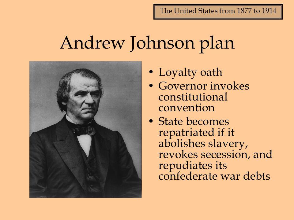 Andrew Johnson plan Loyalty oath
