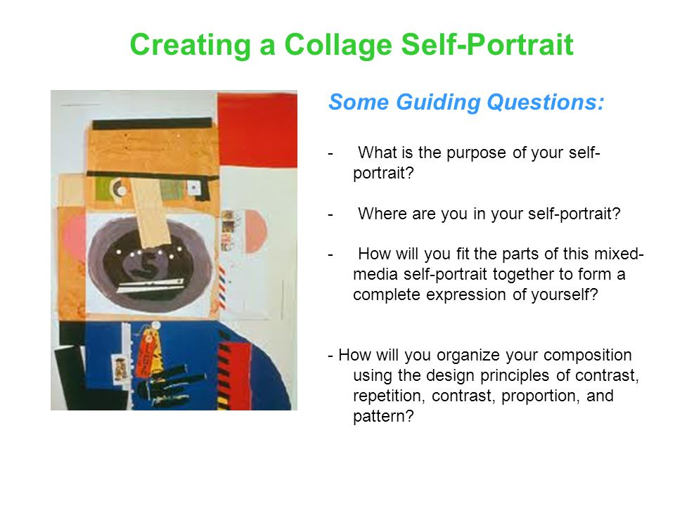 Creating a Collage Self-Portrait