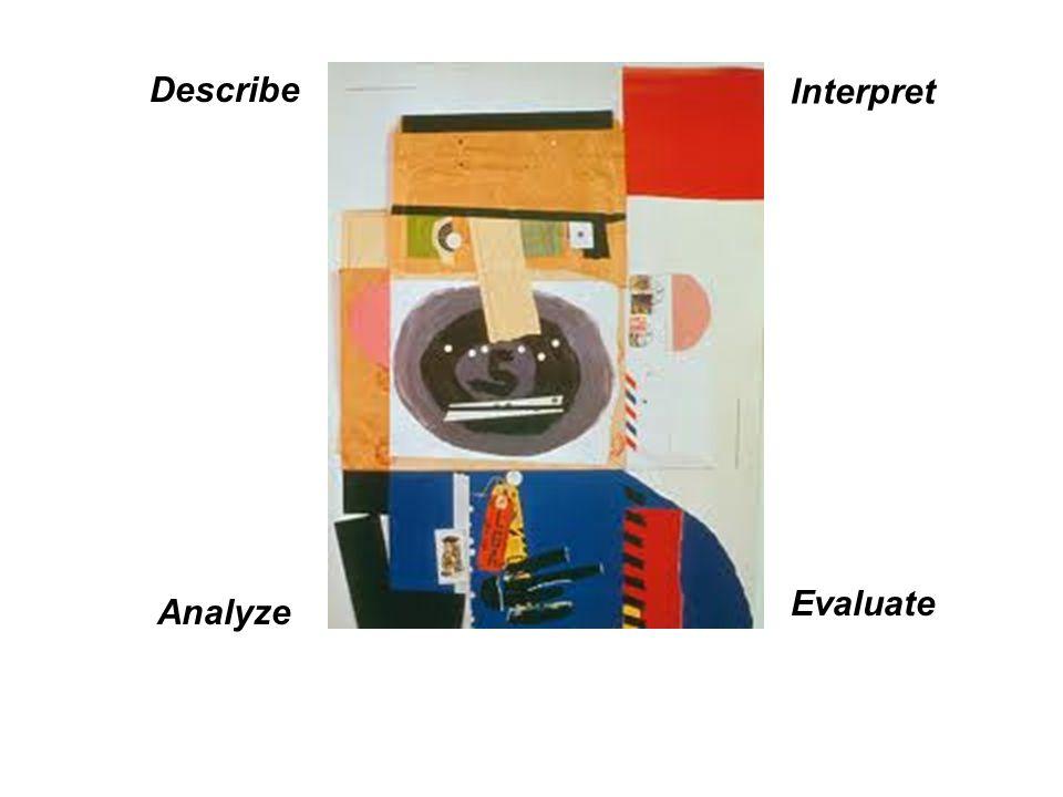 Describe Interpret Evaluate Analyze