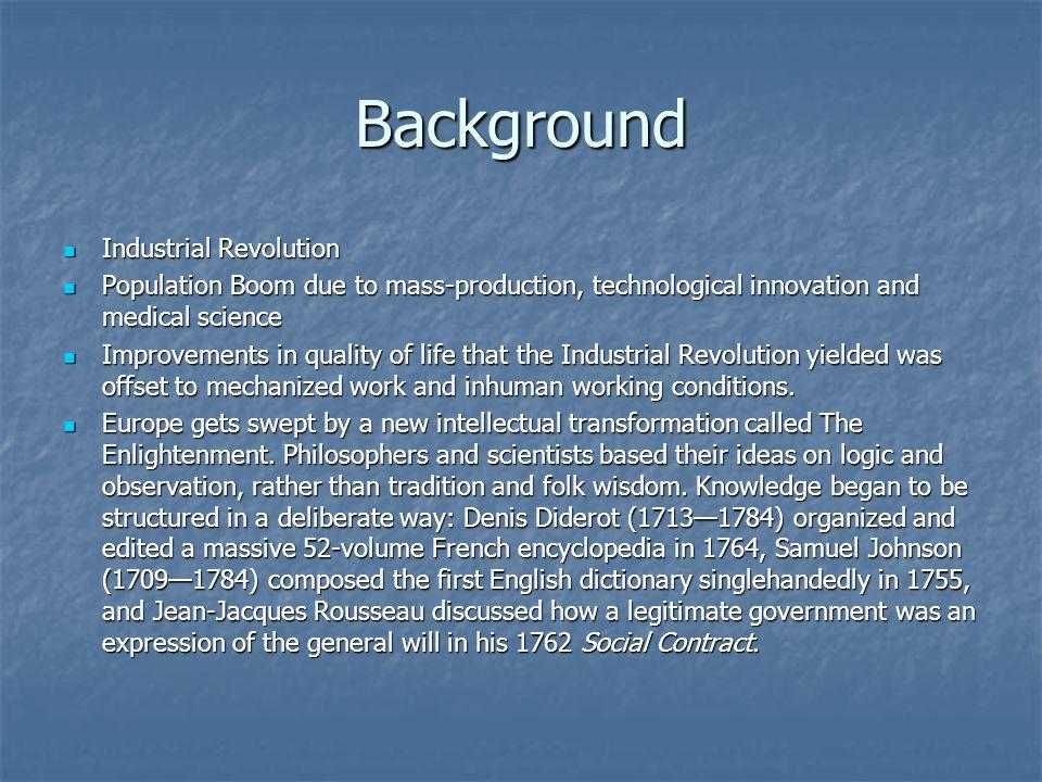 Background Industrial Revolution