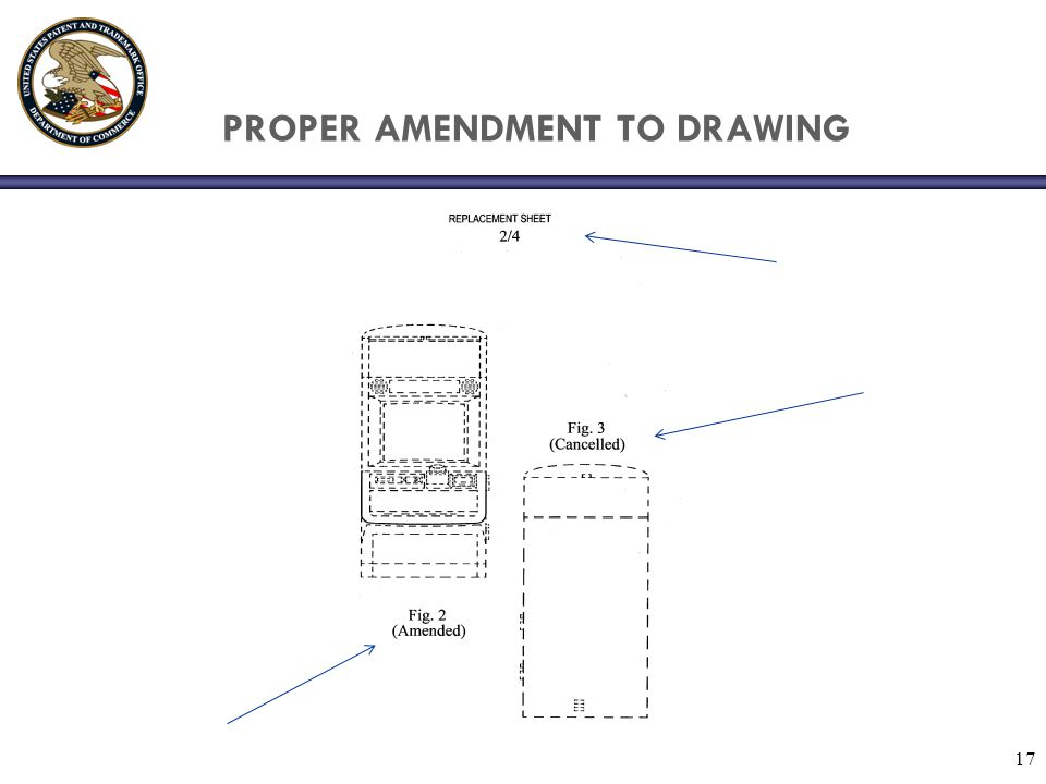 PROPER AMENDMENT TO DRAWING