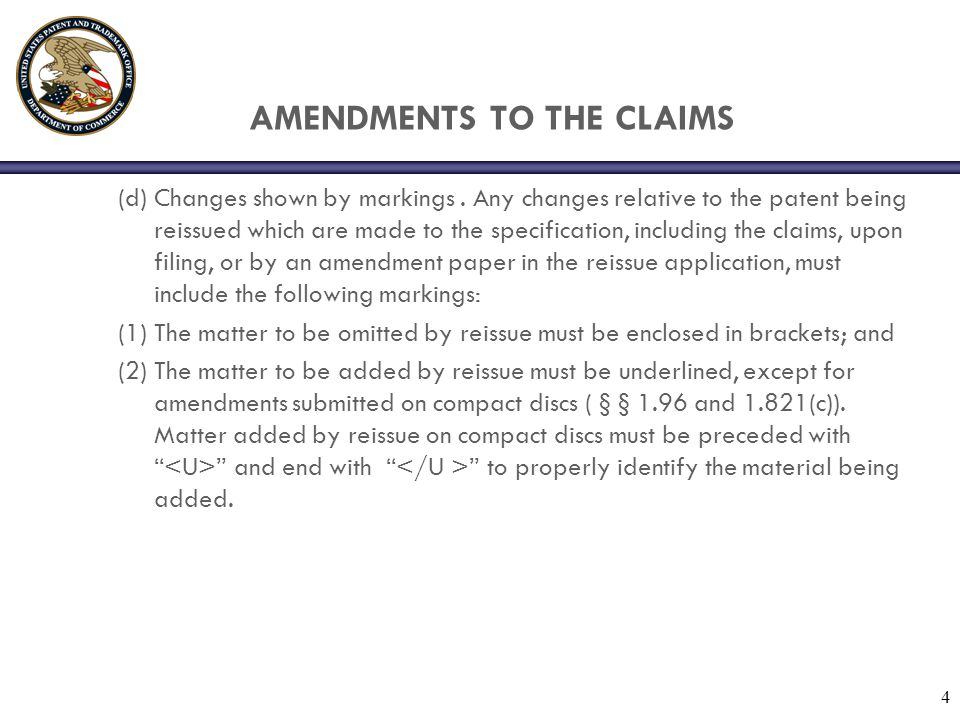 AMENDMENTS TO THE CLAIMS
