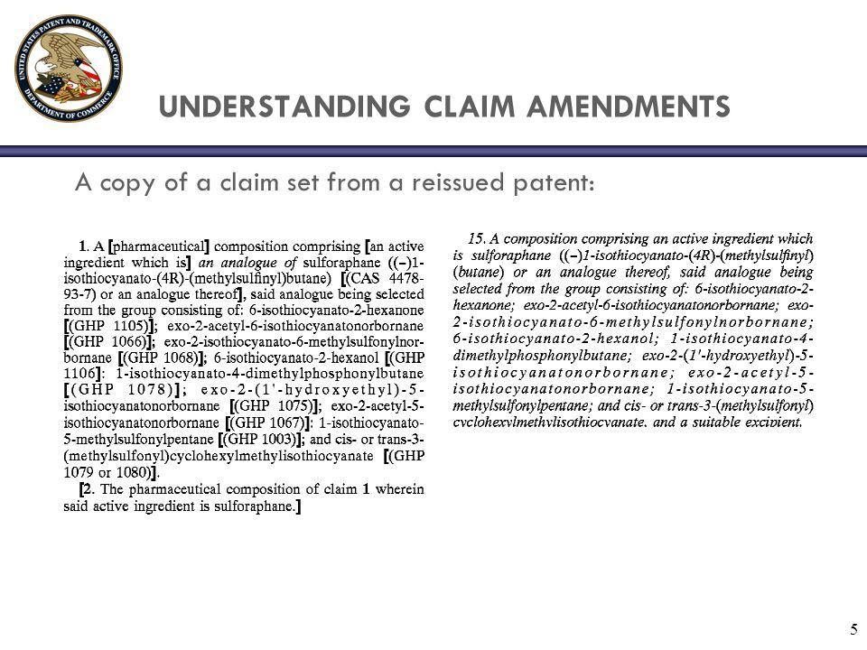 UNDERSTANDING CLAIM AMENDMENTS