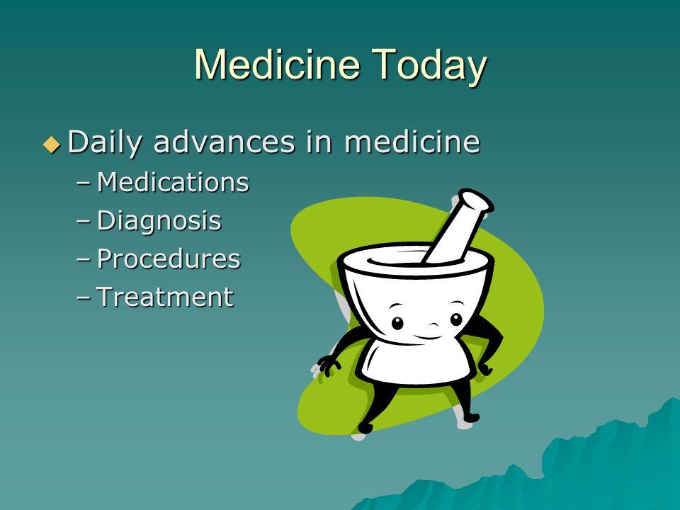 Medicine Today Daily advances in medicine Medications Diagnosis