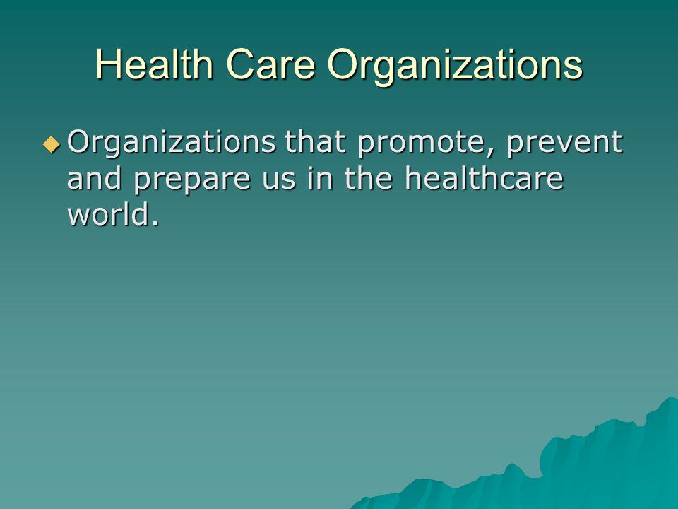 Health Care Organizations