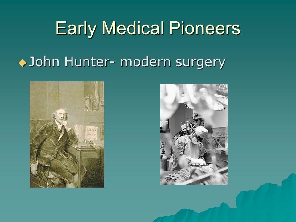 Early Medical Pioneers