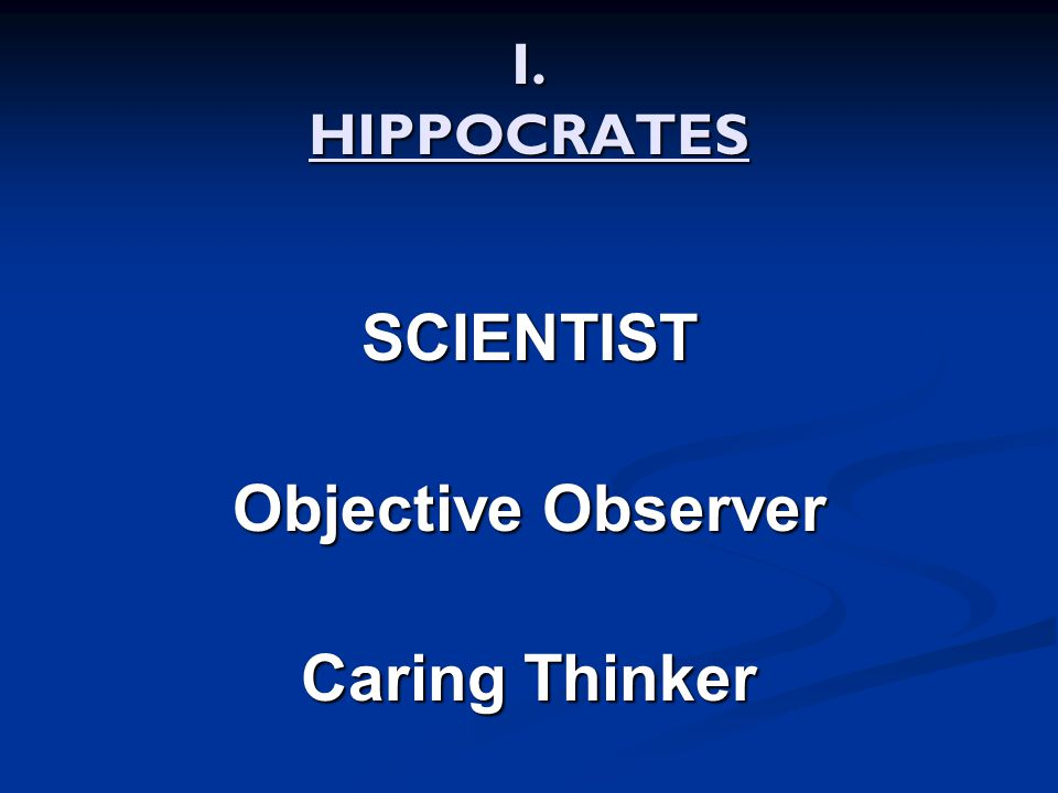SCIENTIST Objective Observer Caring Thinker