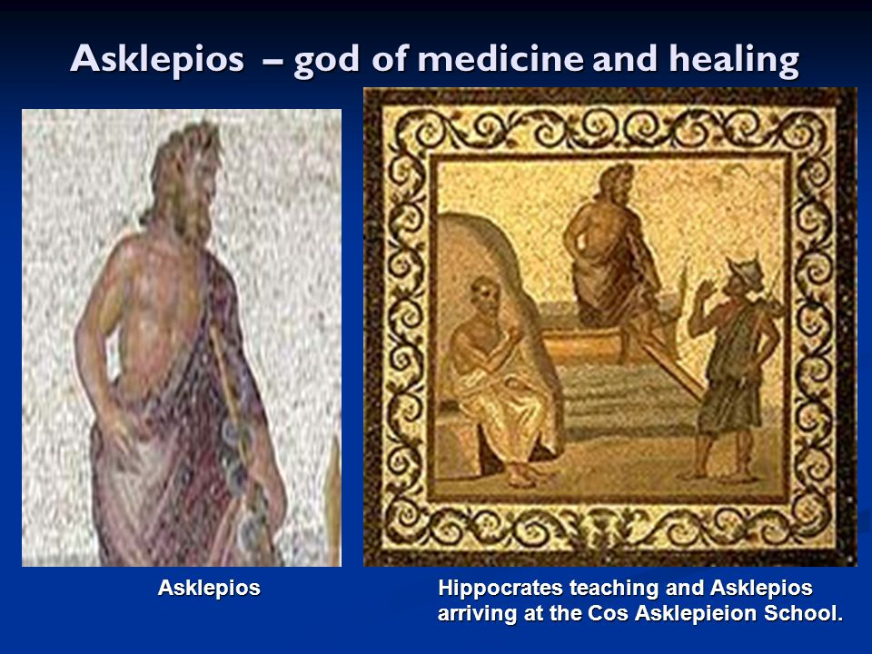 Asklepios – god of medicine and healing