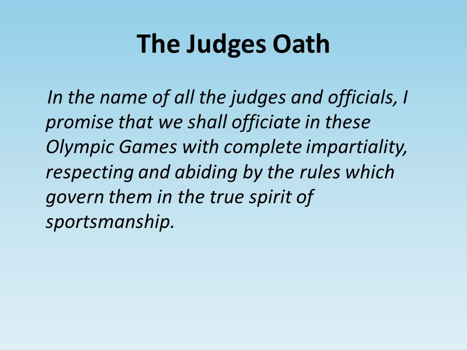 The Judges Oath