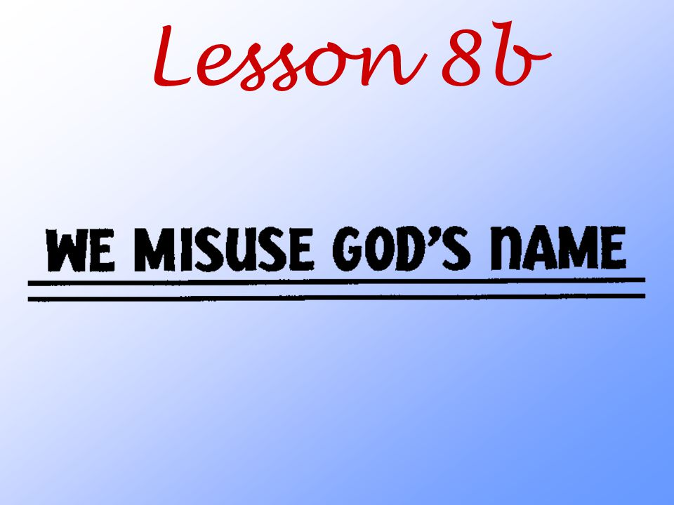 Lesson 8b
