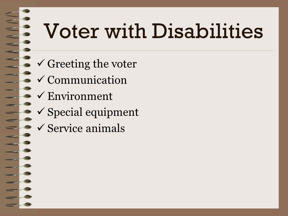 Voter with Disabilities
