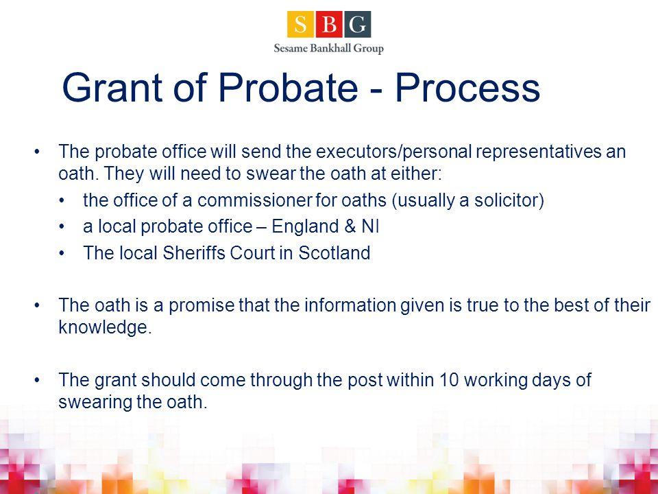 Grant of Probate - Process